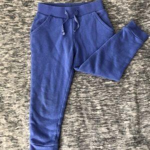 Girls Soft Fleece blue sweat pants